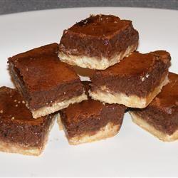 Gooey Brownies with Shortbread Crust TX Tigress