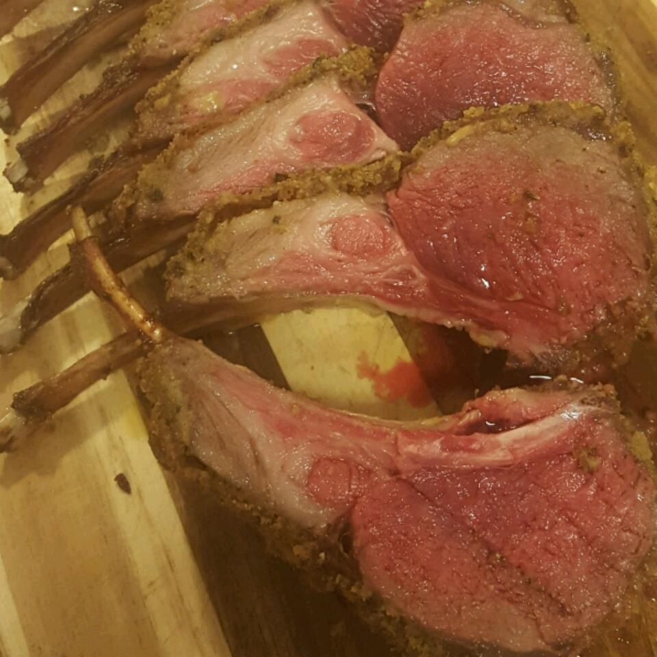 Mint Crusted Rack of Lamb