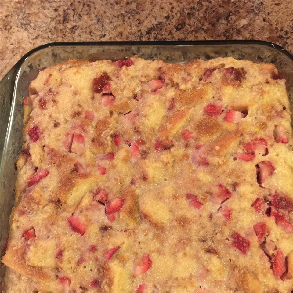 Strawberries and Cream Bread Pudding Sara Guzzardo Harrell