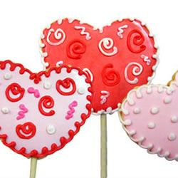 Lollipop Cookie Valentines SUGARPLUMSCOOKIES