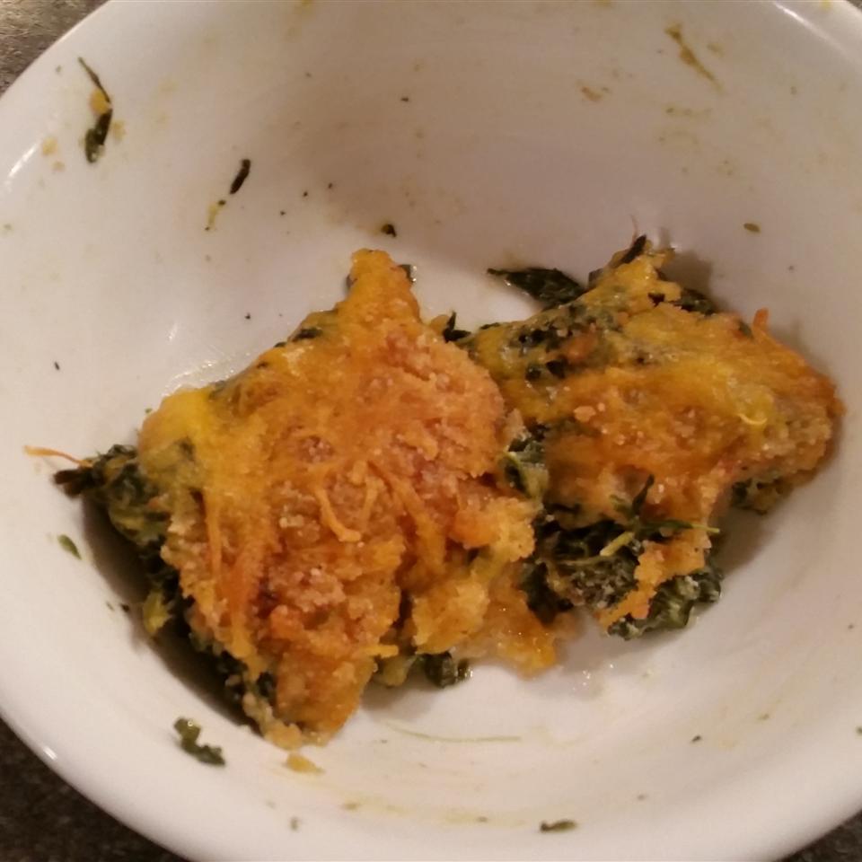 Cheesy Creamed Spinach Casserole Nina