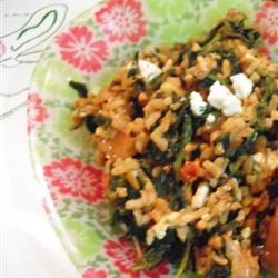 Spinach and Rice (Spanakorizo)