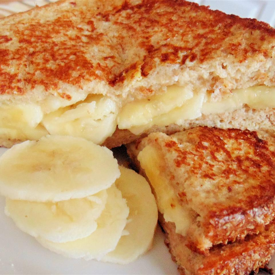 Yummy and Healthy Banana French Toast Sandwich Christina