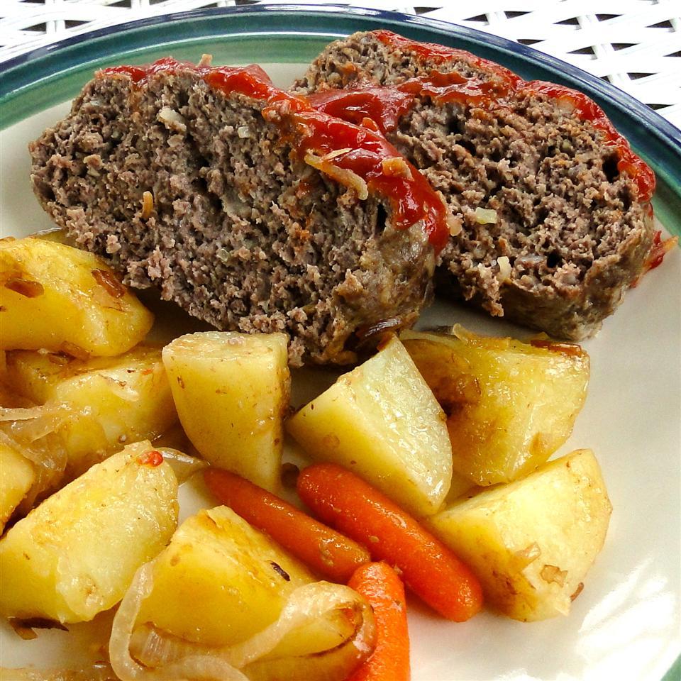 Clay Pot Meatloaf and Potatoes SHORECOOK
