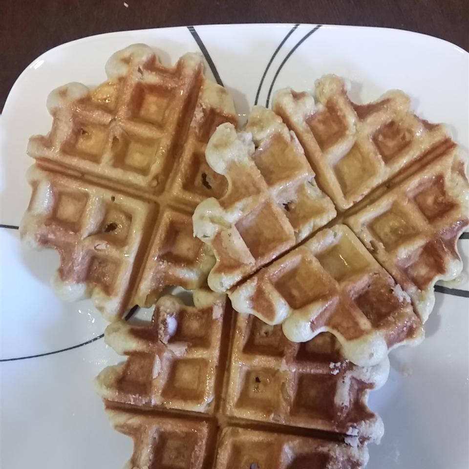 Liege Belgian Waffles with Pearl Sugar