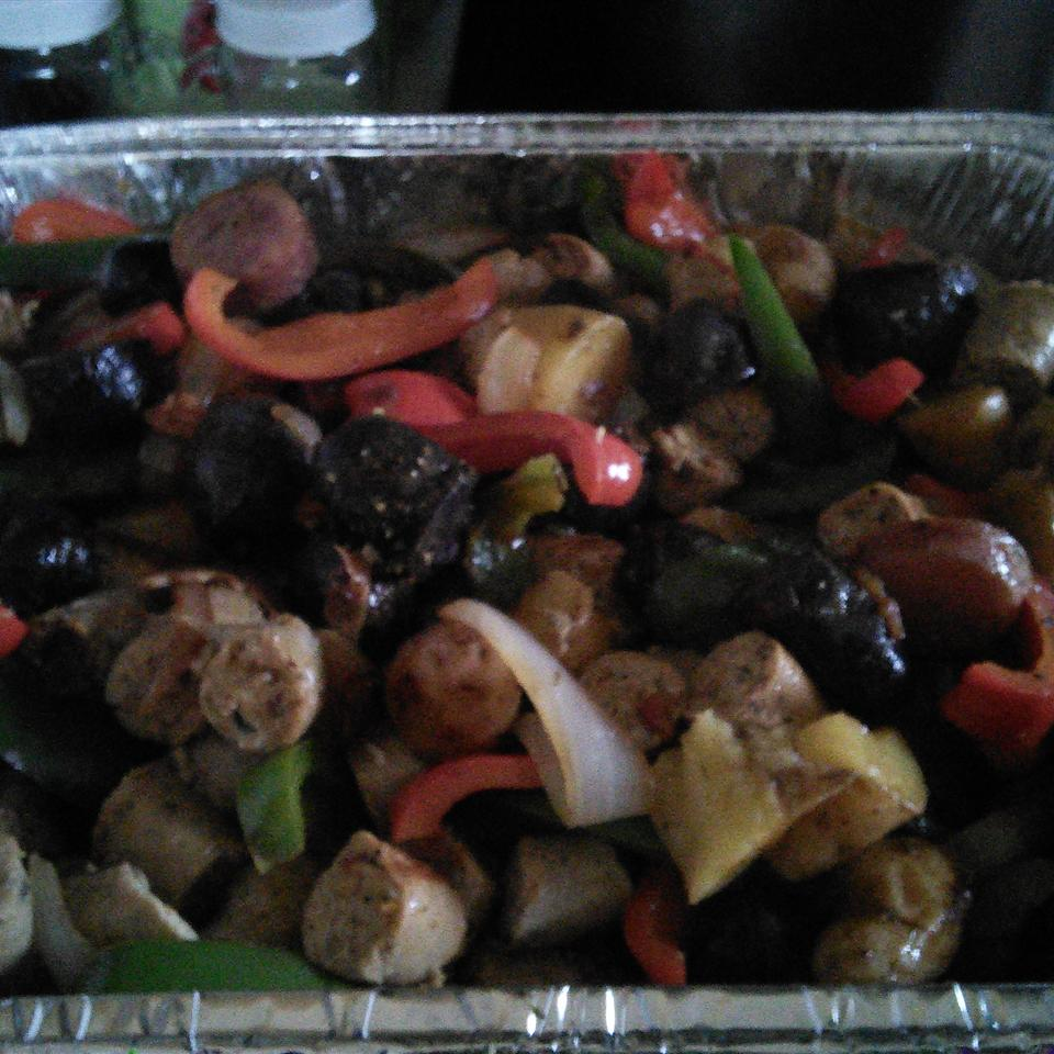 Sausage, Peppers, Onions, and Potato Bake PC