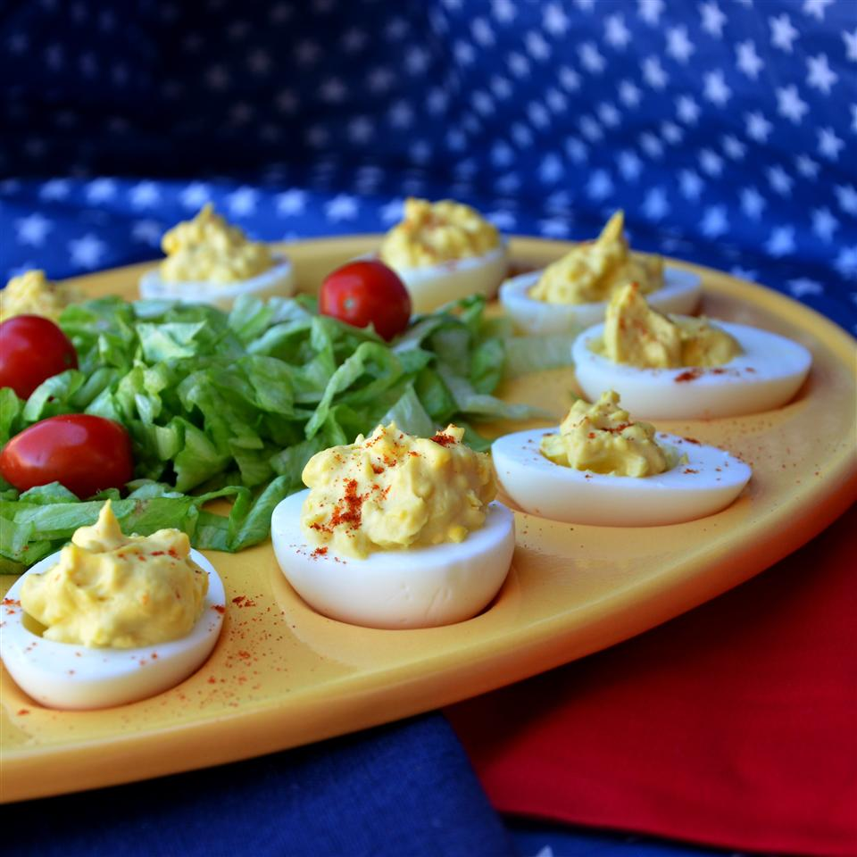 Creamy Cajun Deviled Eggs
