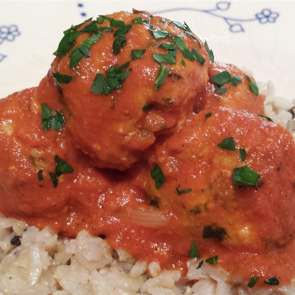 Turkey and Rice Meatballs (Albondigas) debbie eckstein