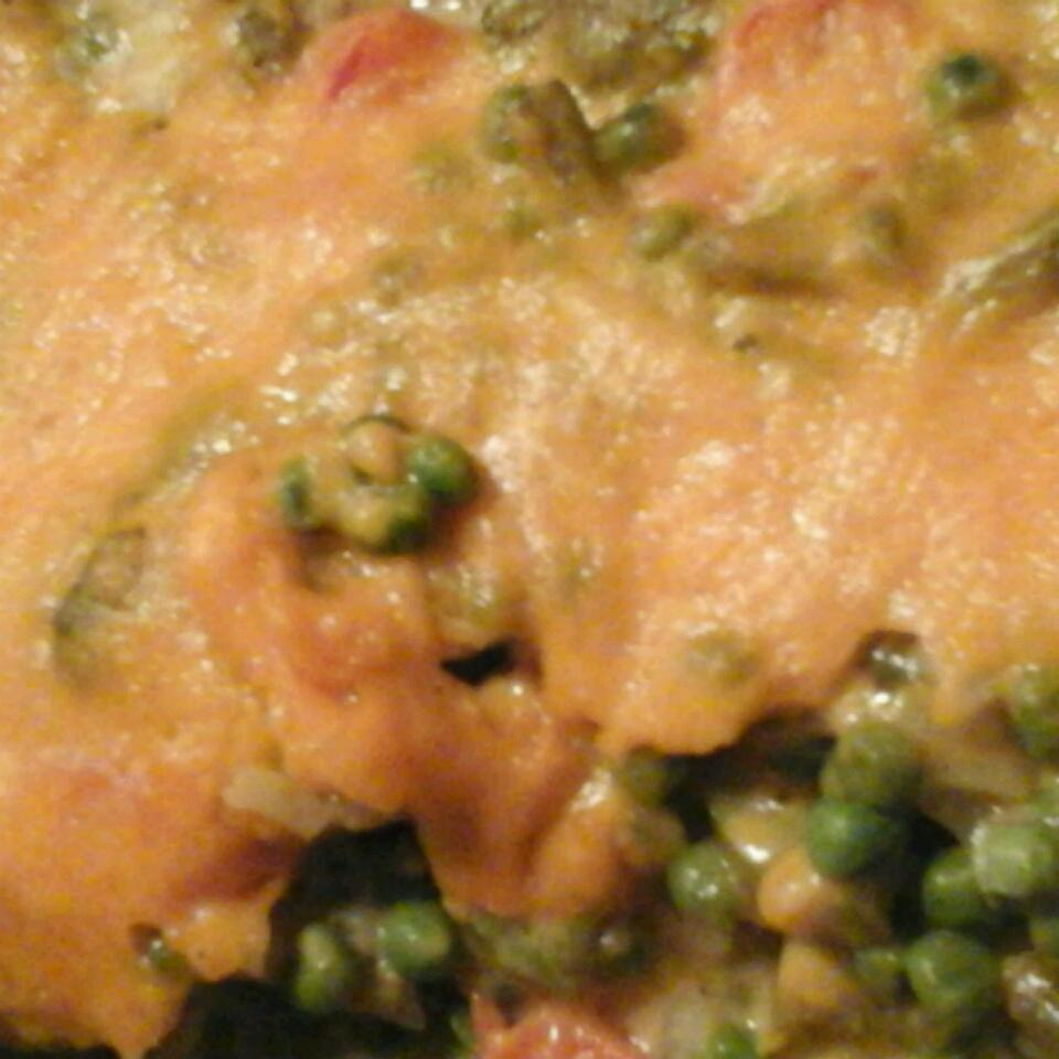 Deep Dish Pea and Vegetable Casserole Wendy Bank