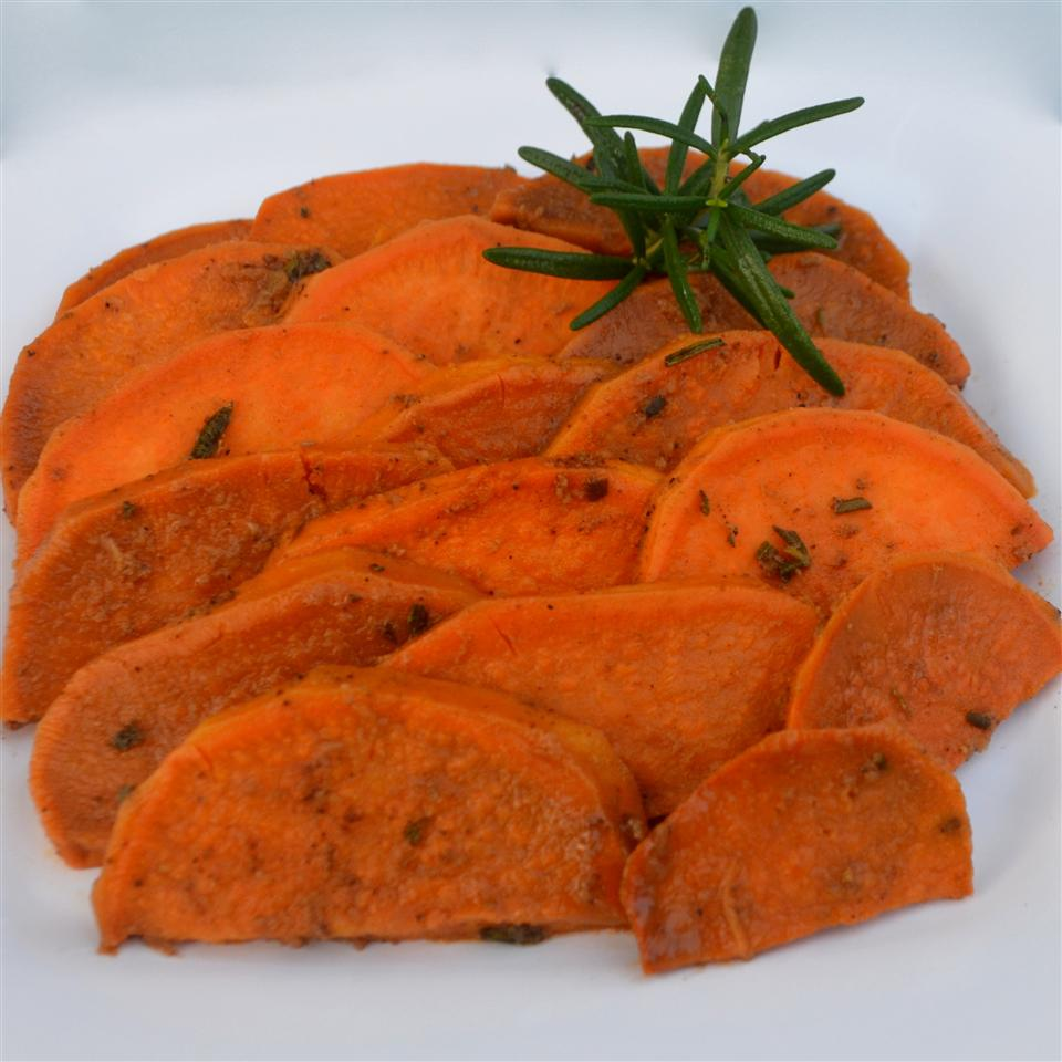 Rosemary Sweet Sweet Potatoes with Ginger