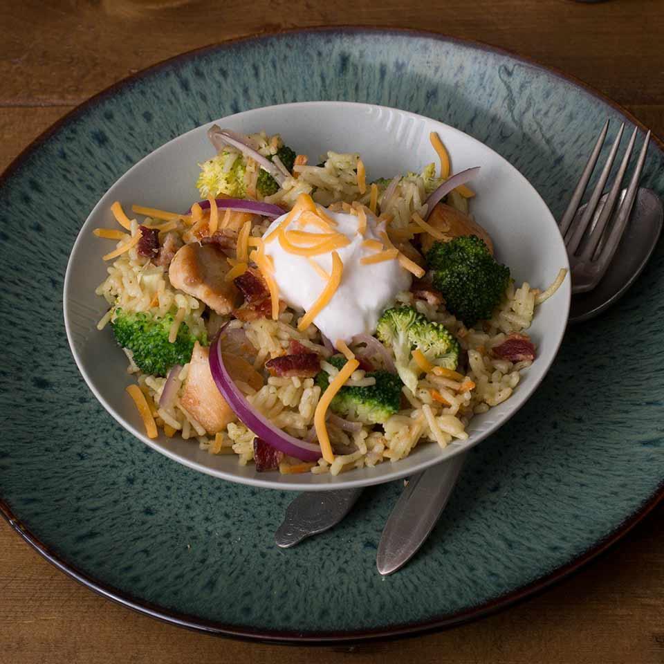 Bacon, Broccoli, Chicken & Rice Knorr