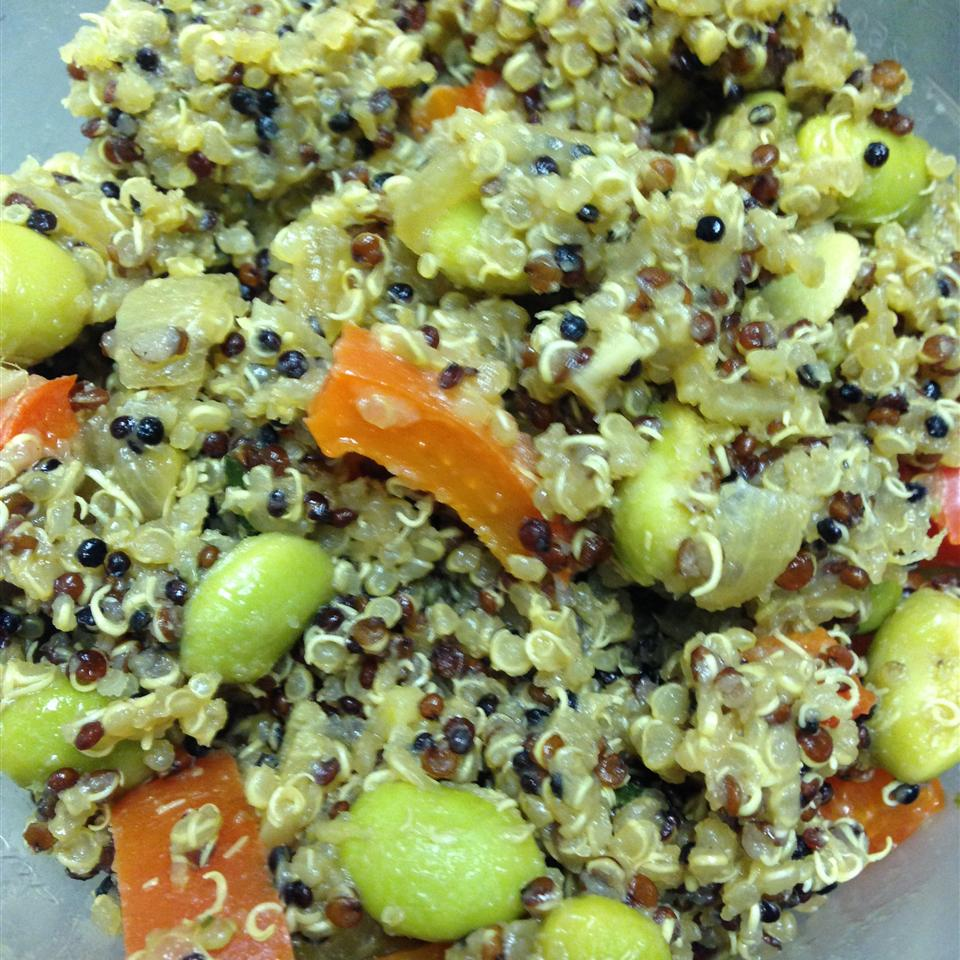 Protein-Packed Spicy Vegan Quinoa with Edamame Lindsay Deem