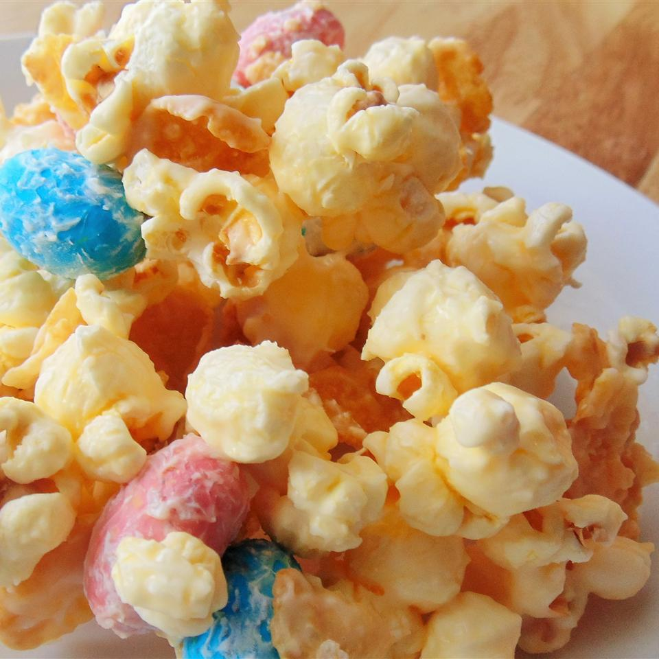 Malted White Chocolate Popcorn with Robin's Eggs Christina