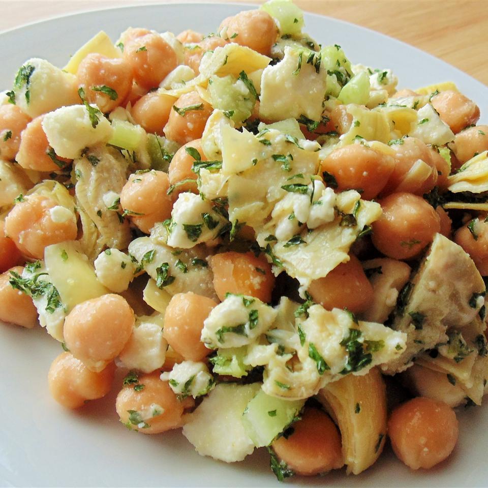 Chickpea, Artichoke, and Feta Salad