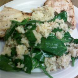 Cheesy Quinoa Pilaf with Spinach Deavis13