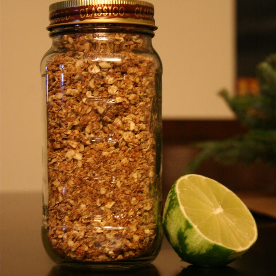 Honey-Lime Granola with Almonds FNChef