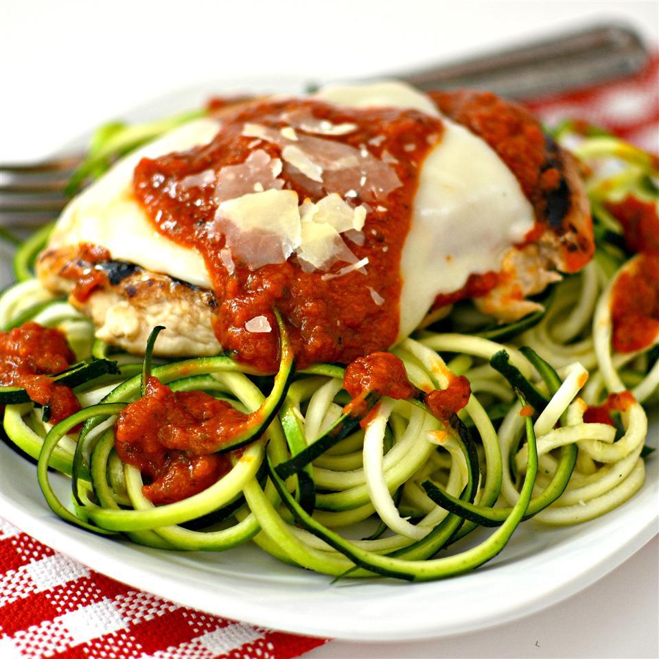Chicken Parmesan with Zucchini Pasta