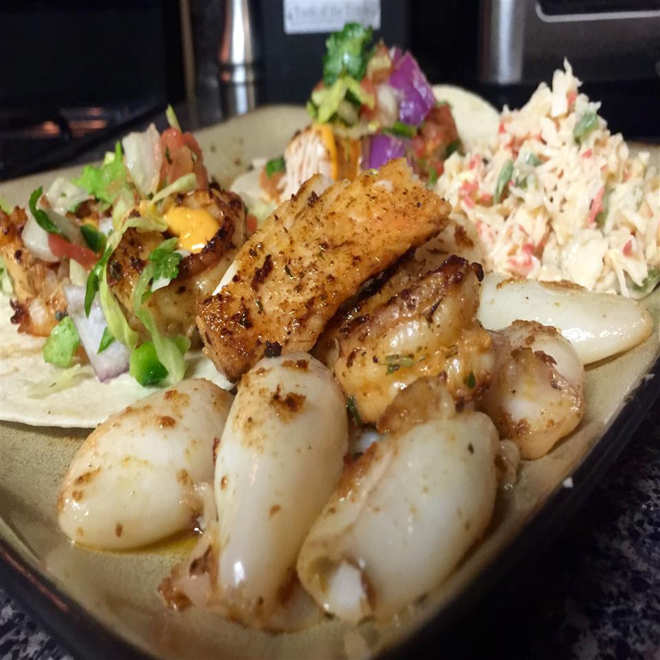 Spicy Cajun Shrimp Tacos