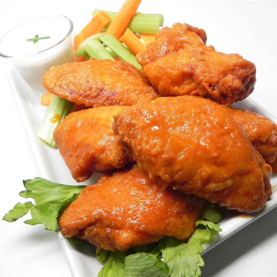 Fried Buffalo Wings with Spicy, Sweet, and Umami Sauce Cali_home_cook