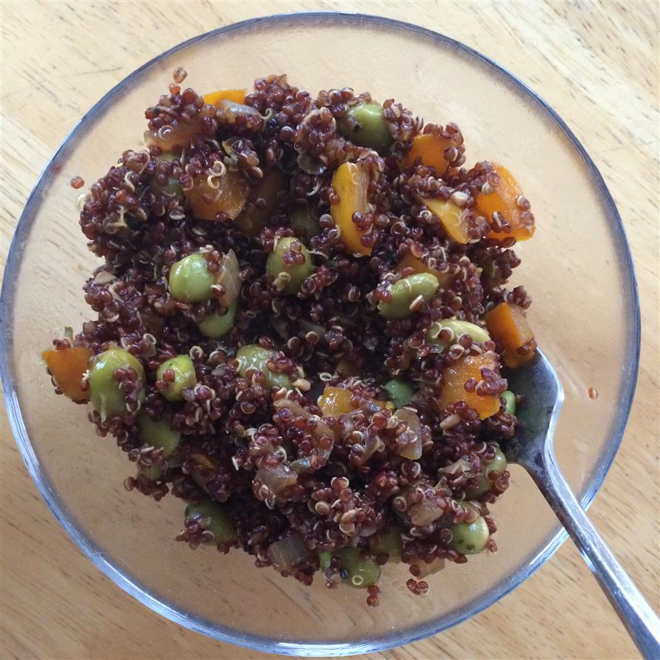Protein-Packed Spicy Vegan Quinoa with Edamame
