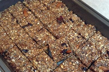 sharons no bake granola bars recipe