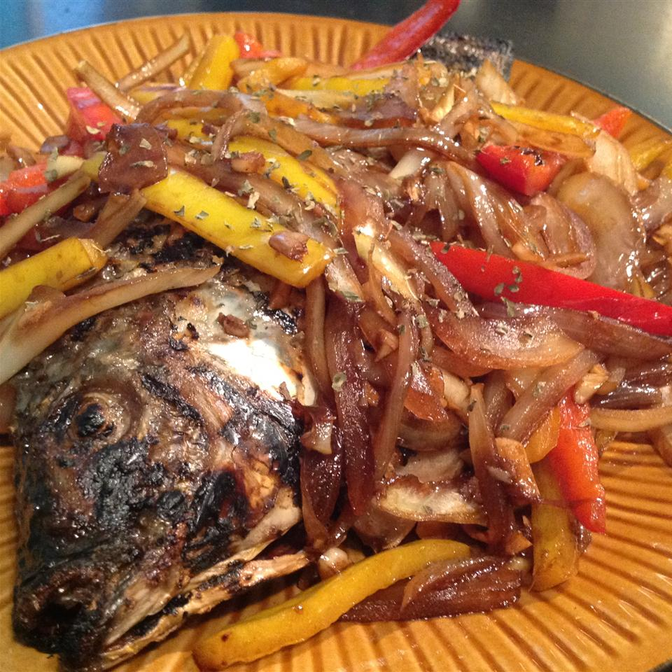 Fried Whole Tilapia with Basil and Chilies Gerri