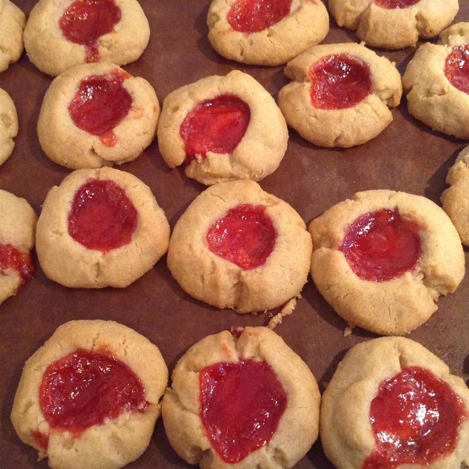 Peanut Butter and Jelly Thumbprint Shortbread Cookies Fi Mo