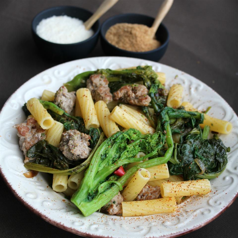 Gluten Free Chicken Sausage & Broccoli Rabe Rotini Buckwheat Queen