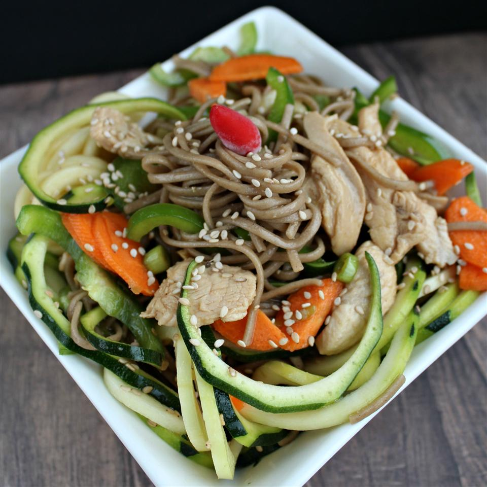 Soba Noodle Salad With Chicken And Sesame Recipe Allrecipes