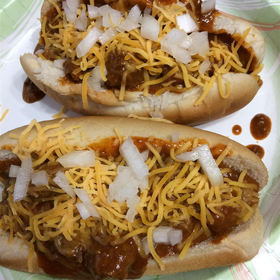 Chili Dogs with Cheese