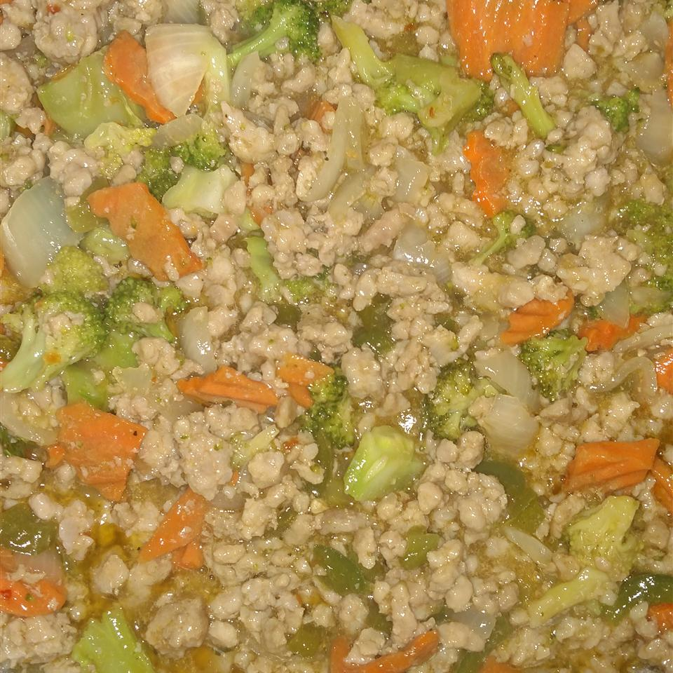 Sweet and Sour Ground Pork Stir-Fry