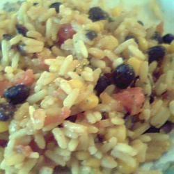 Black Beans, Corn, and Yellow Rice Britt