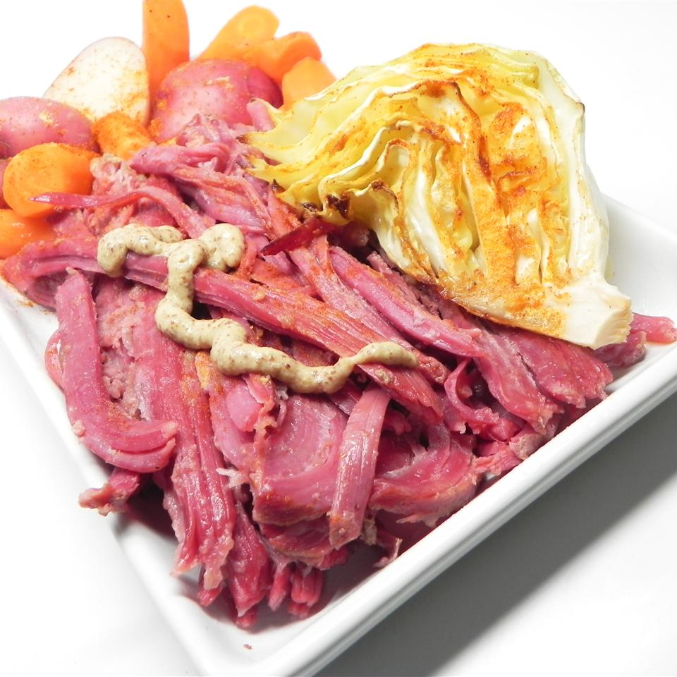 Honey Mustard Corned Beef Brisket and Cabbage