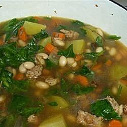 savory kale cannellini bean and potato soup