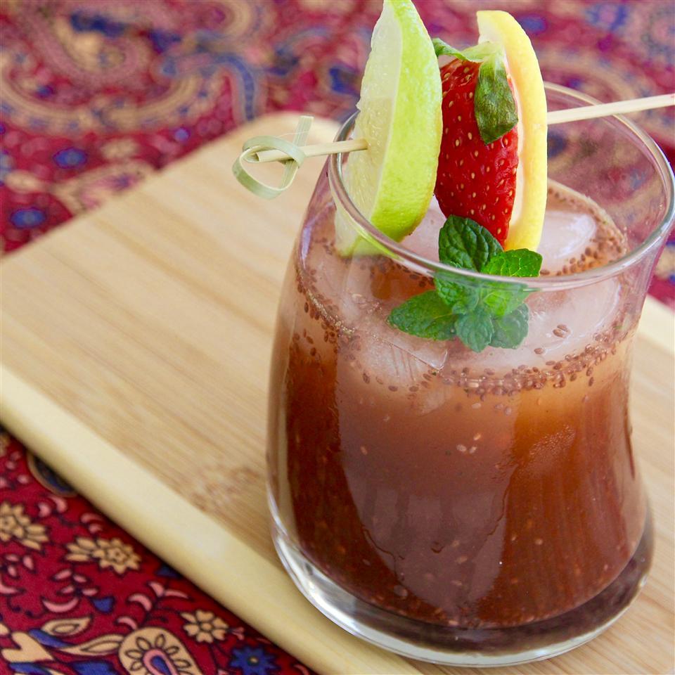 Strawberry Mint Chia Fresca