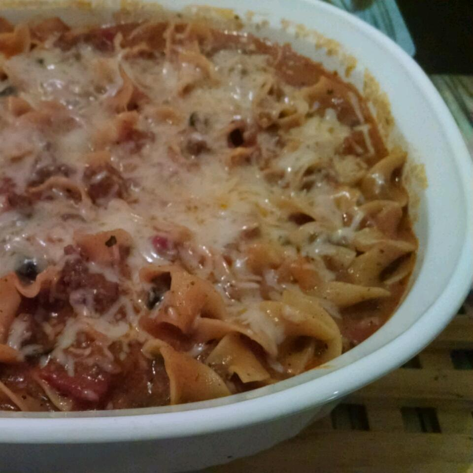 Cheesy Beef Noodle Casserole