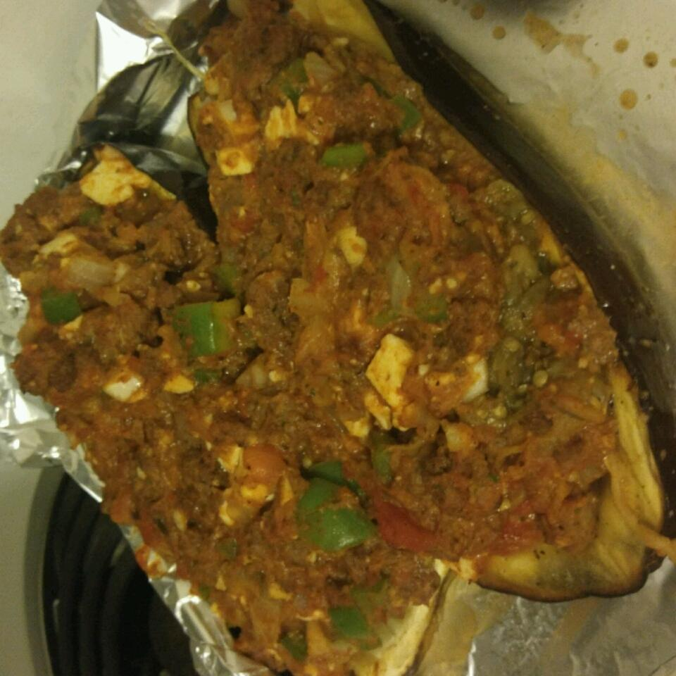 Eggplant Stuffed with Lamb and Feta Jessica Anne