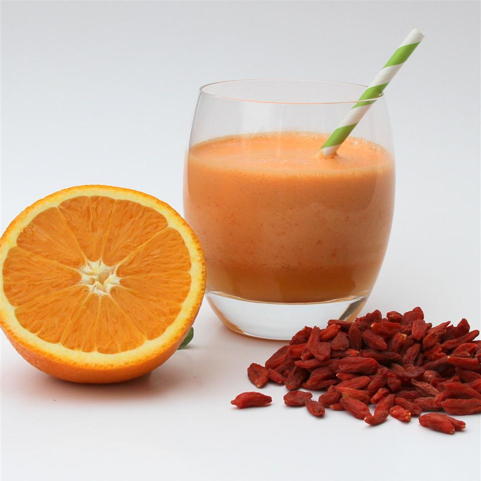 Orange Juice Goji Berries Smoothie Jennifer Aleman
