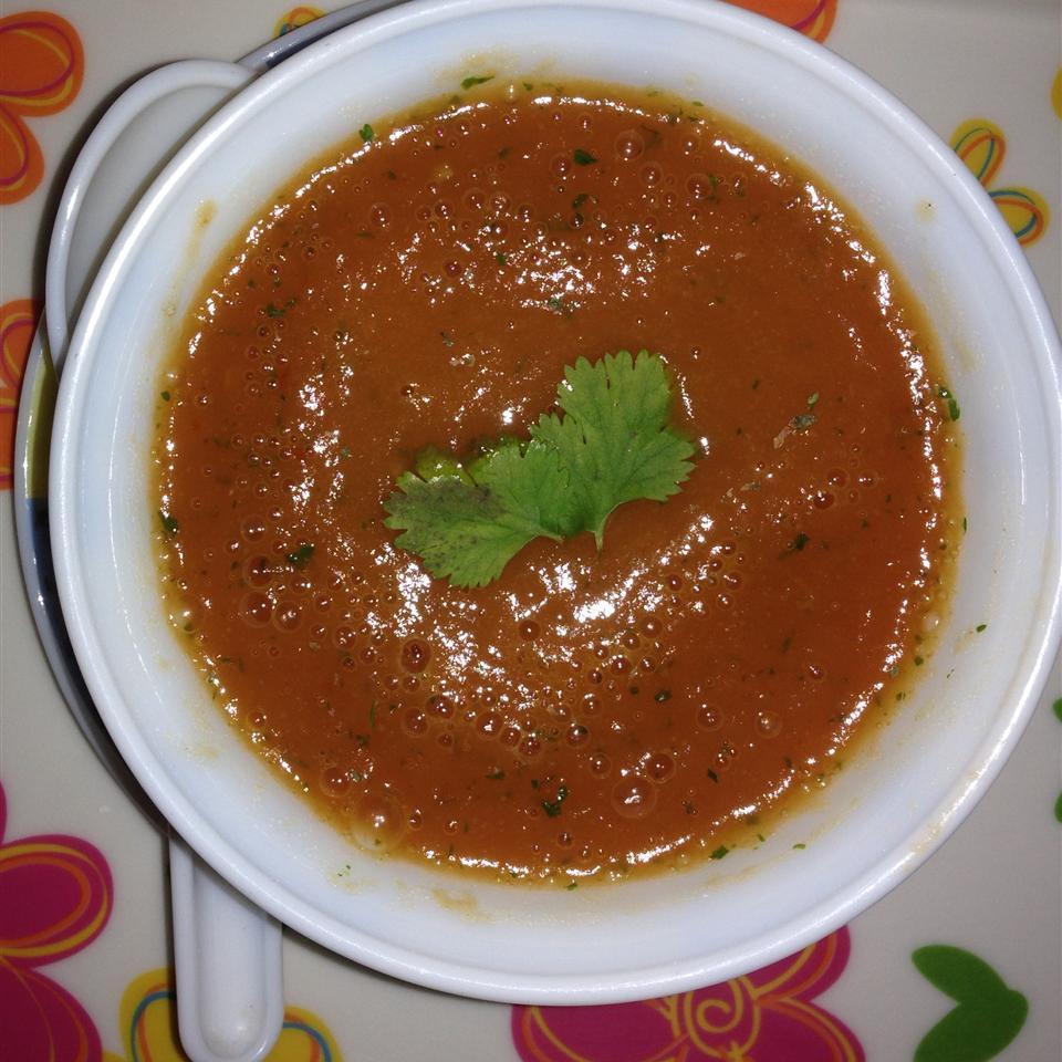 Carrot Chile and Cilantro Soup Sona Gupta Joshi