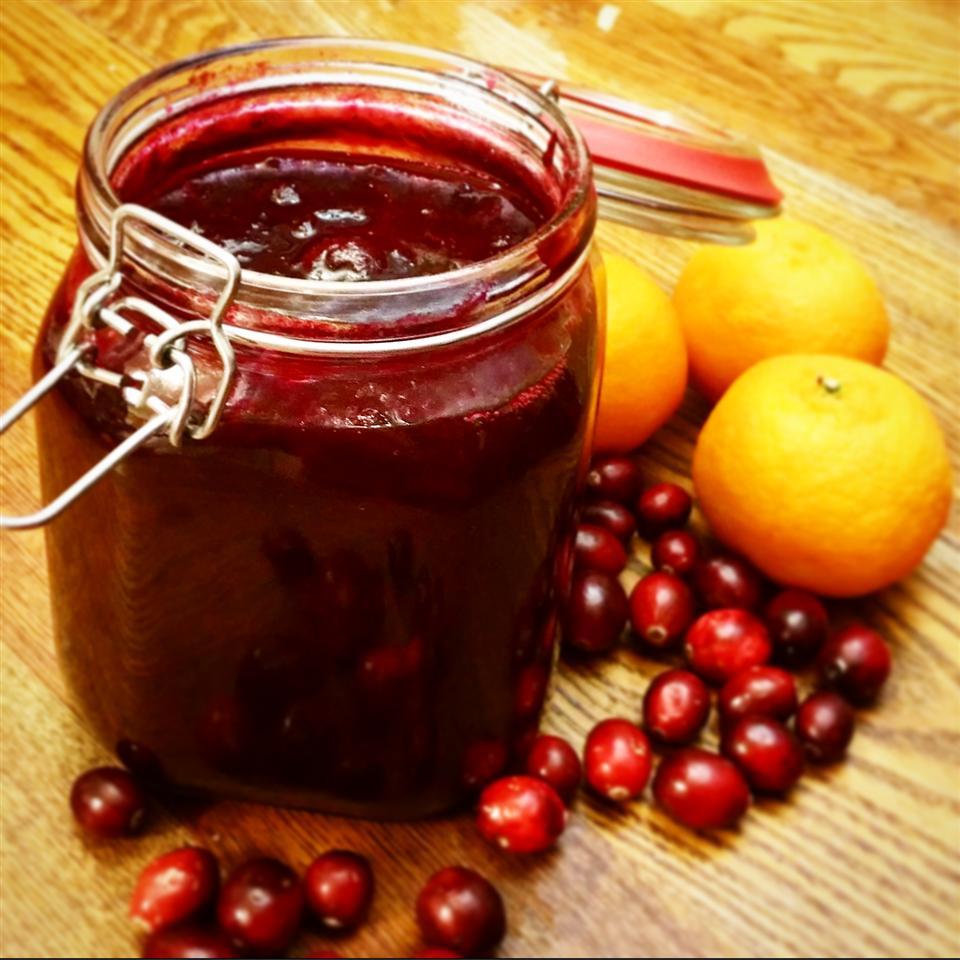 Festive Fresh Blueberry and Cranberry Relish
