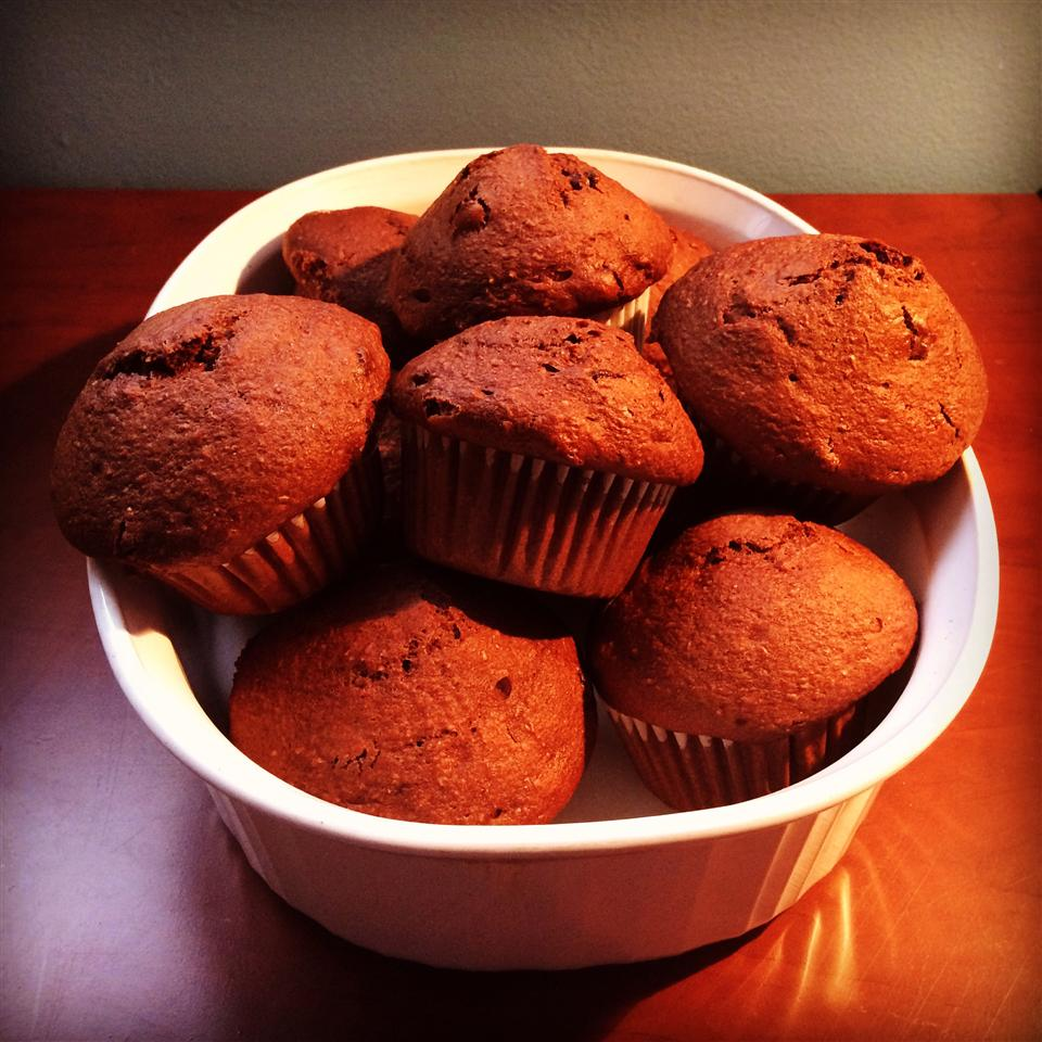 Double Chocolate Cherry Muffins miaodee