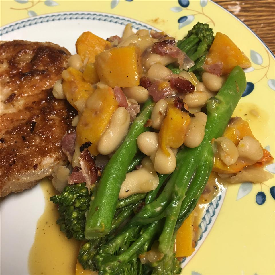 Maple Cannellini Bean Salad with Baby Broccoli and Butternut Squash HungryHippo2