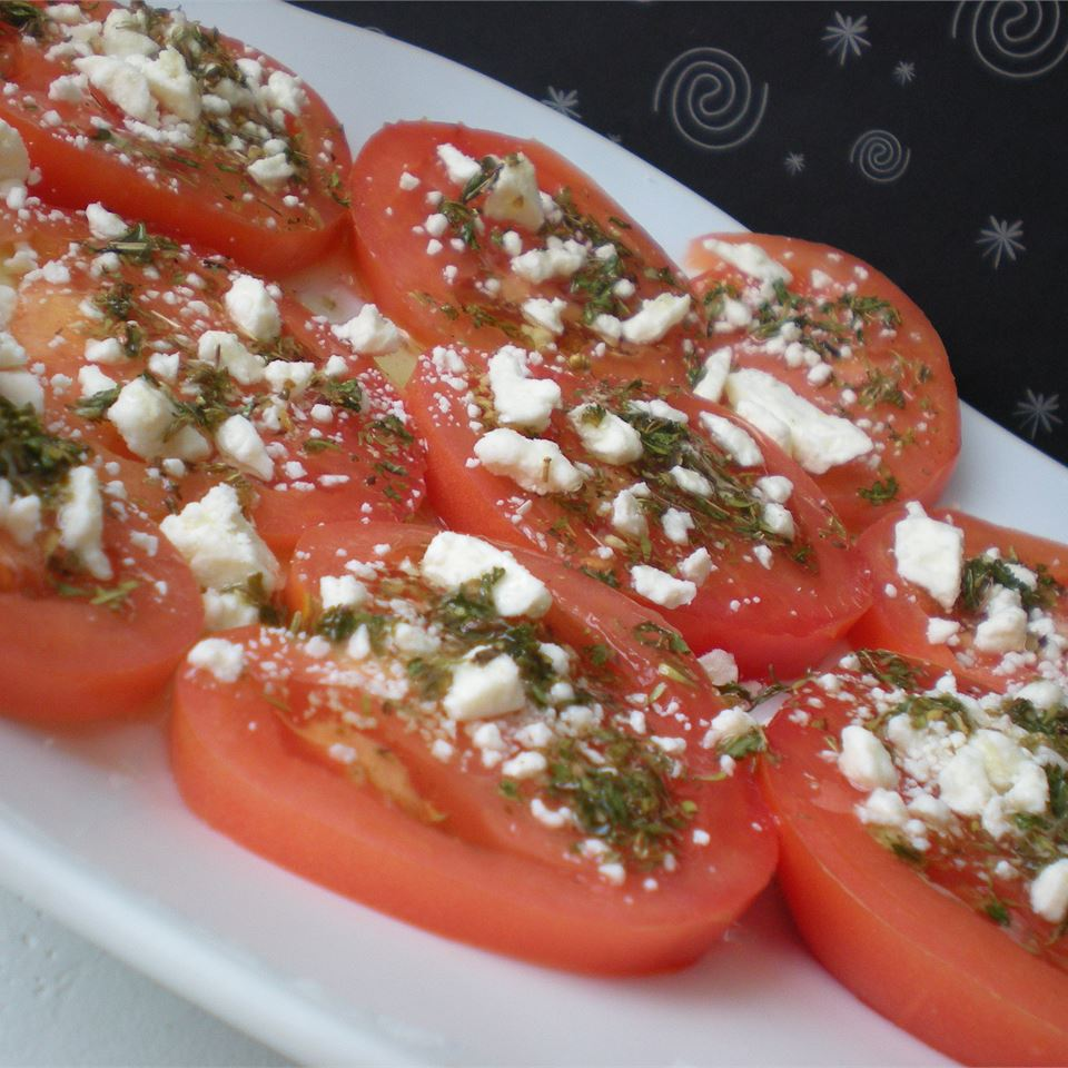 Sliced Tomatoes with Fresh Herb Dressing TheBritishBaker