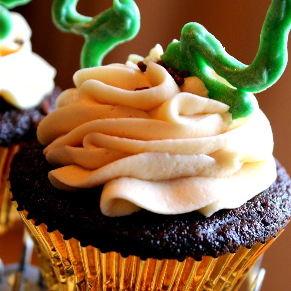 Chocolate Beer Cupcakes With Whiskey Filling And Irish Cream Icing Jaana Smith Bauman
