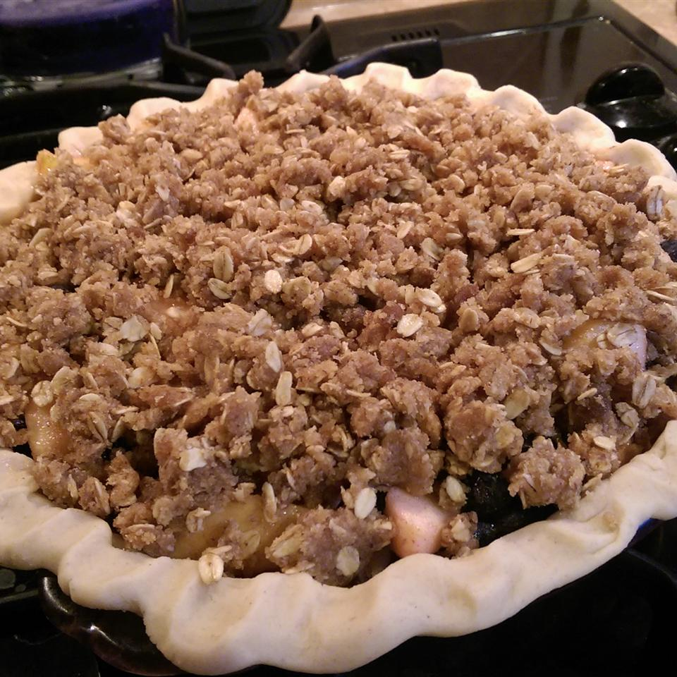 Cherry Pie with Almond Crumb Topping Two2Mother