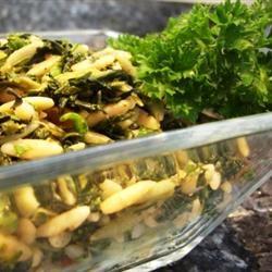 Mediterranean Orzo Spinach Salad