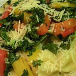 Sweet Pepper Pasta Toss with Kale Michelle2828