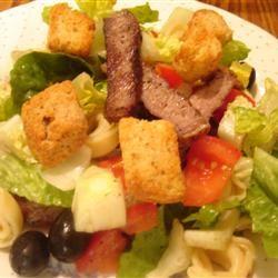 Tortellini, Steak, and Caesar momtotwins