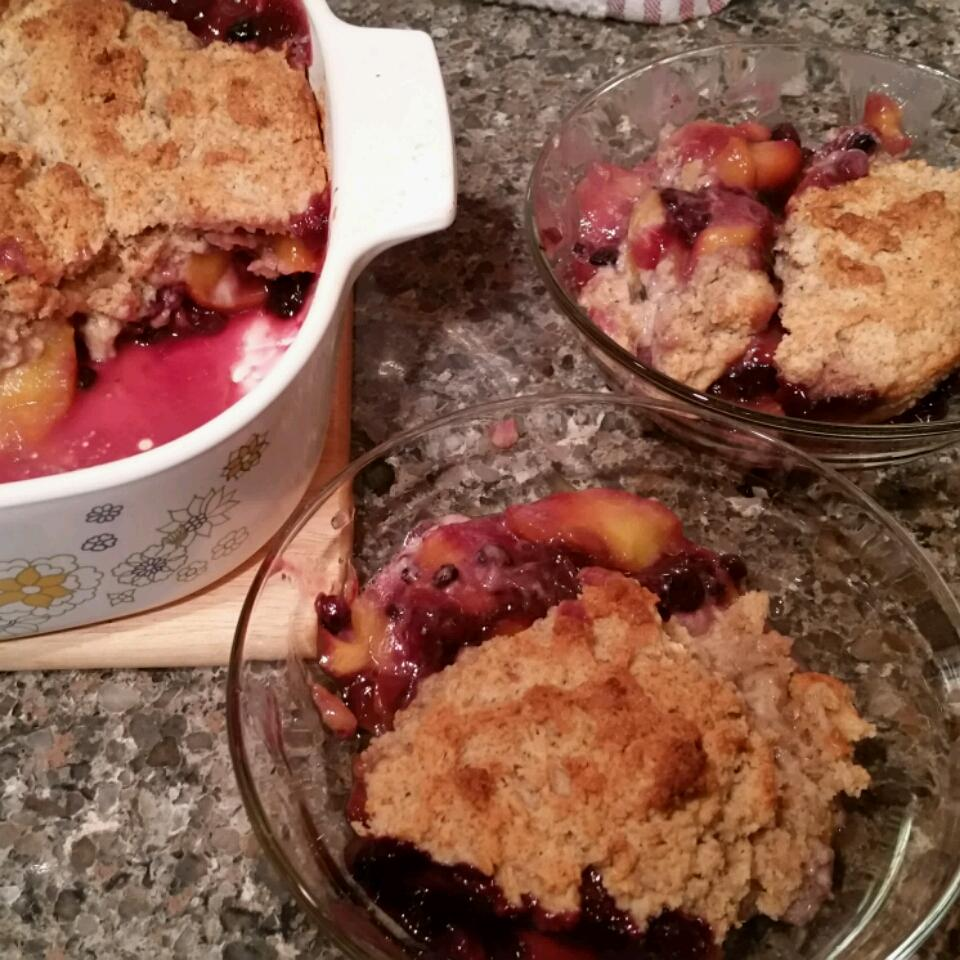 Huckleberry Peach Cobbler Peggy B