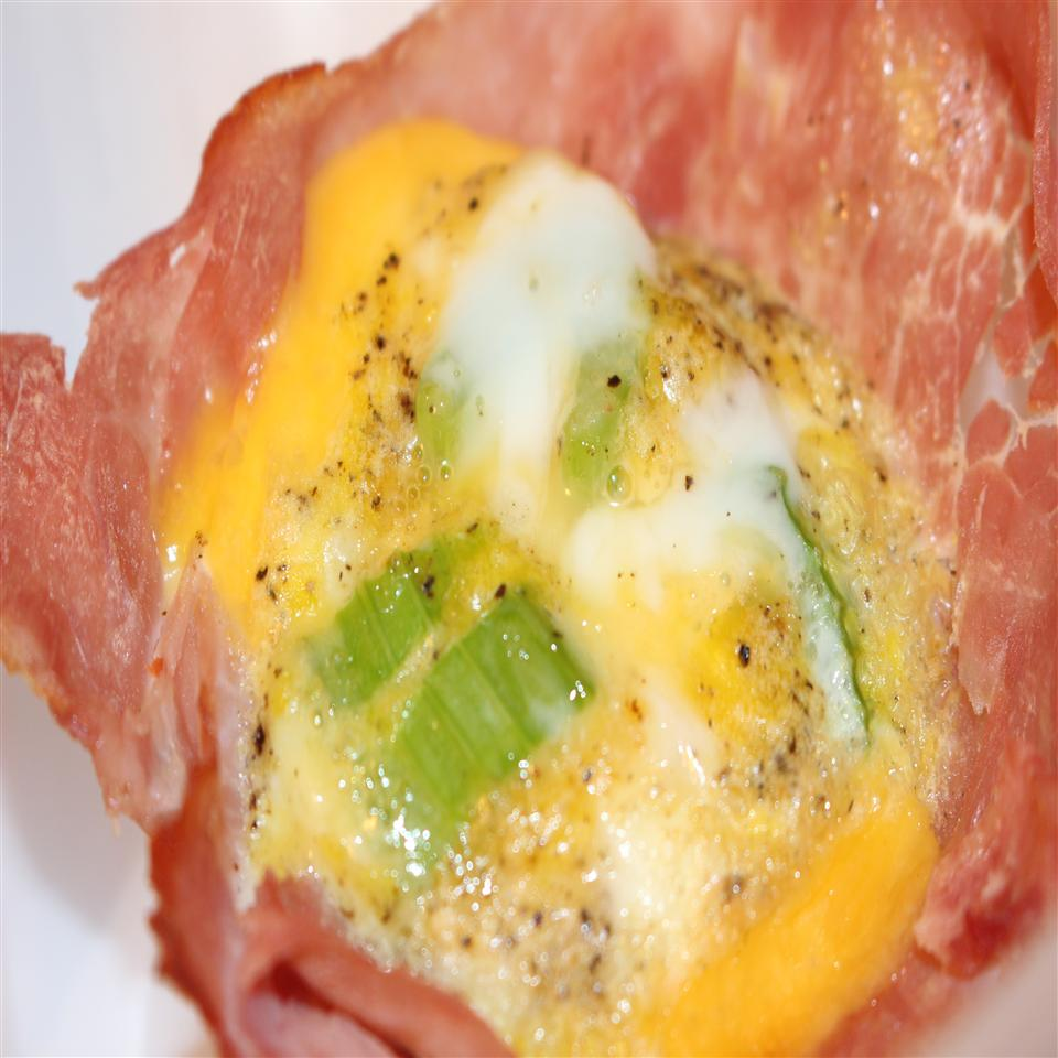 Ham and Cheese Egg Bowl